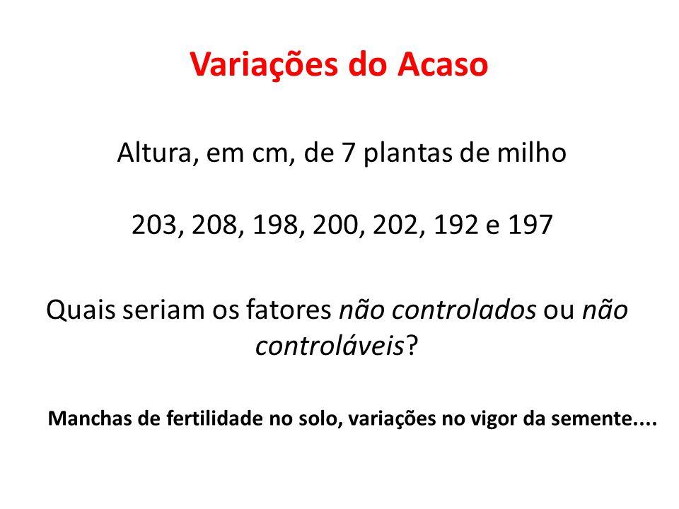 Manchas de fertilidade no solo, variações no vigor da semente....