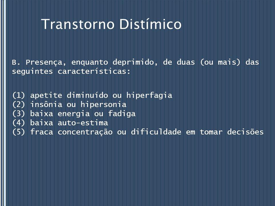 Transtorno Distímico