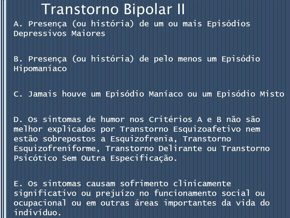 Transtorno Bipolar II