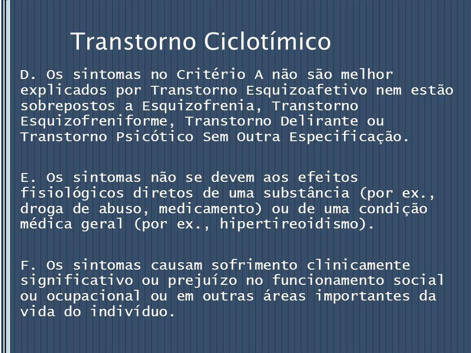 Transtorno Ciclotímico