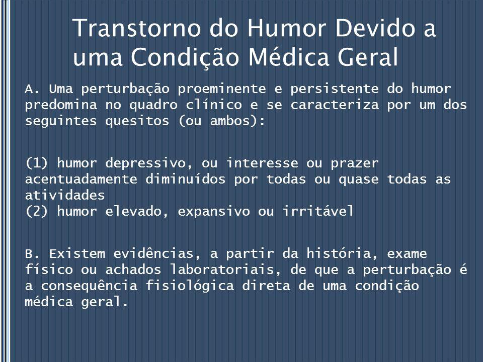 Transtorno do Humor Devido a uma Condição Médica Geral