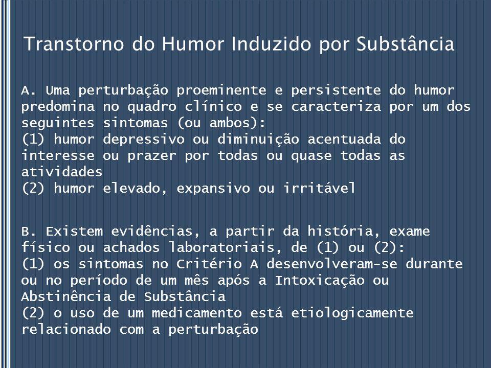 Transtorno do Humor Induzido por Substância