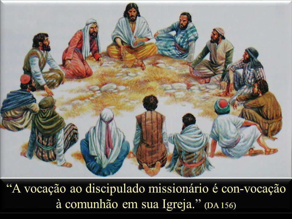 A vocação ao discipulado missionário é con-vocação à comunhão em sua Igreja. (DA 156)