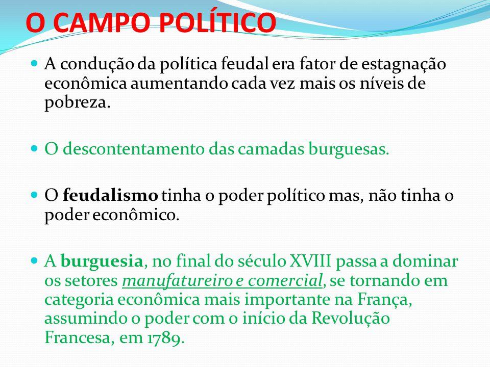 A condução da política feudal era fator de estagnação econômica aumentando cada vez mais os níveis de pobreza.