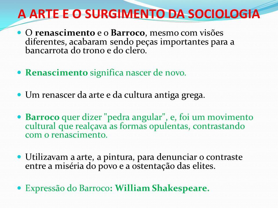 A ARTE E O SURGIMENTO DA SOCIOLOGIA