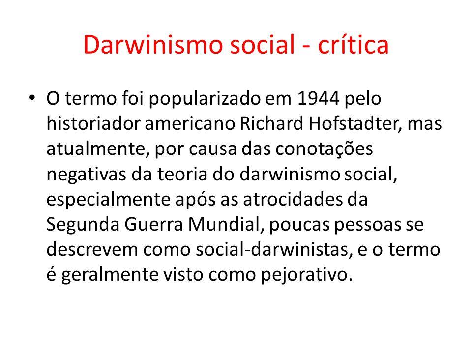 Darwinismo social - crítica