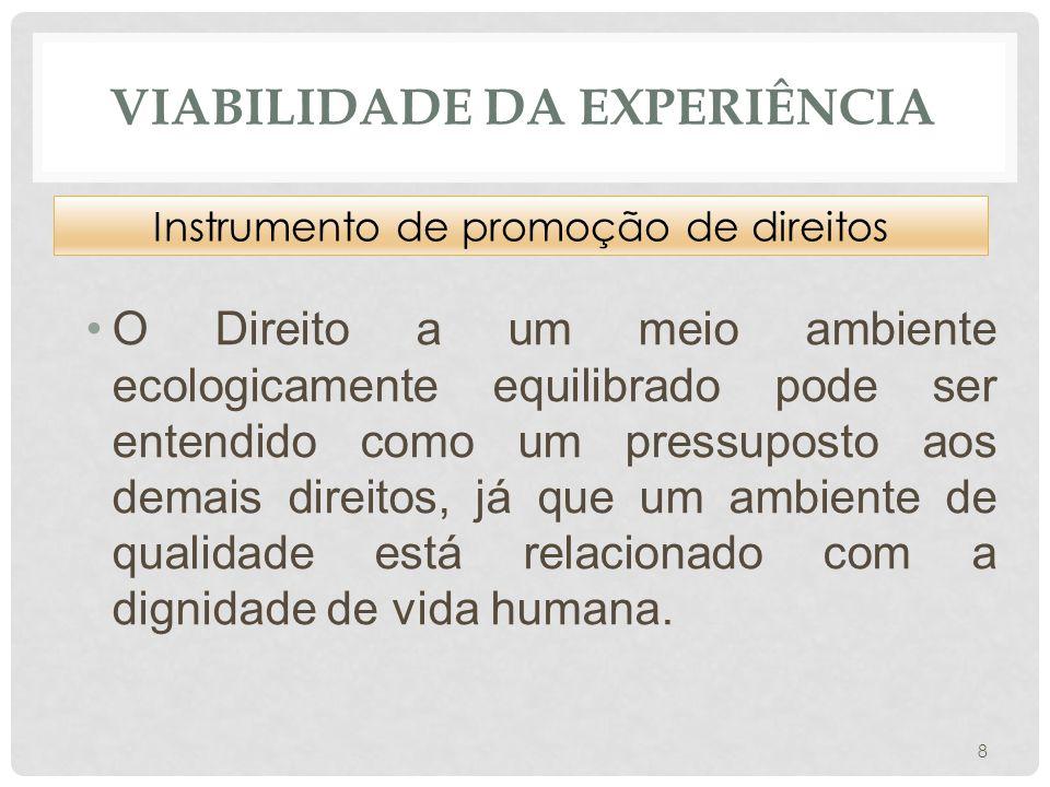 Viabilidade da experiência
