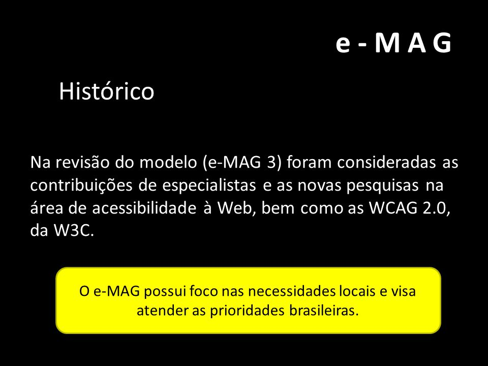 e-MAG Histórico.