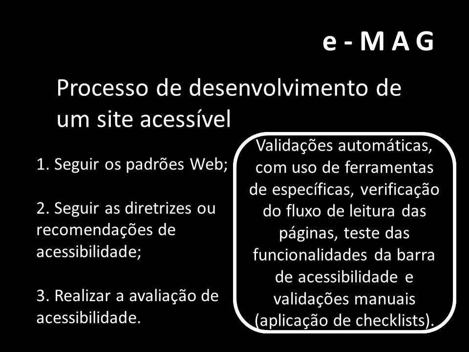e-MAG Processo de desenvolvimento de um site acessível