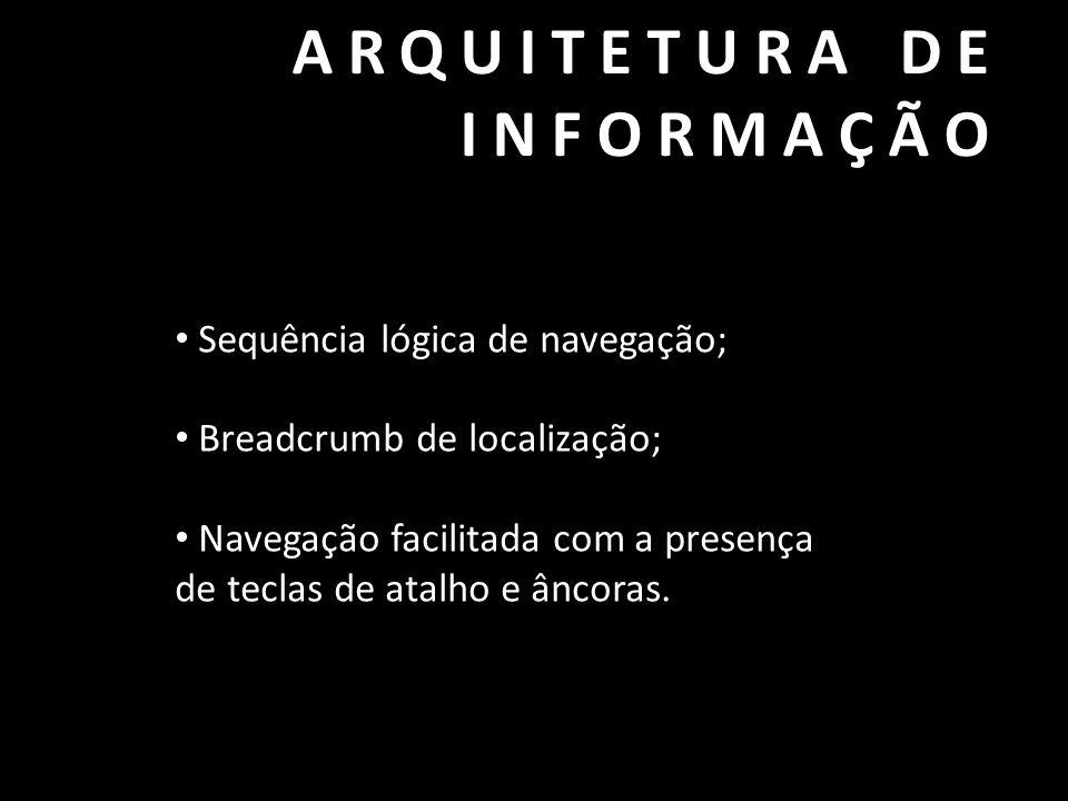 ARQUITETURA DE INFORMAÇÃO