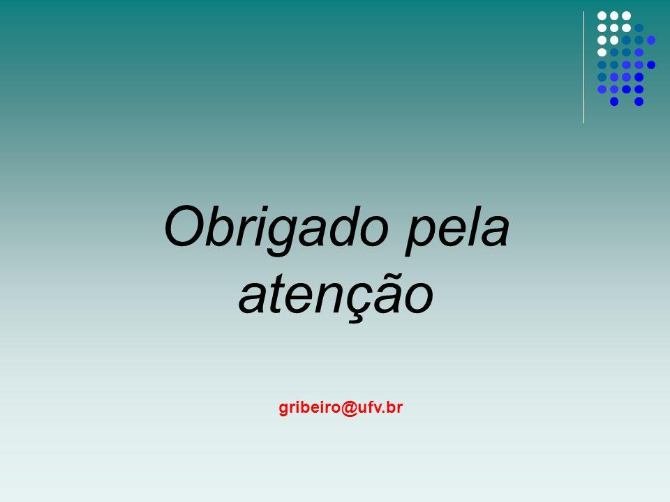 Obrigado pela atenção gribeiro@ufv.br