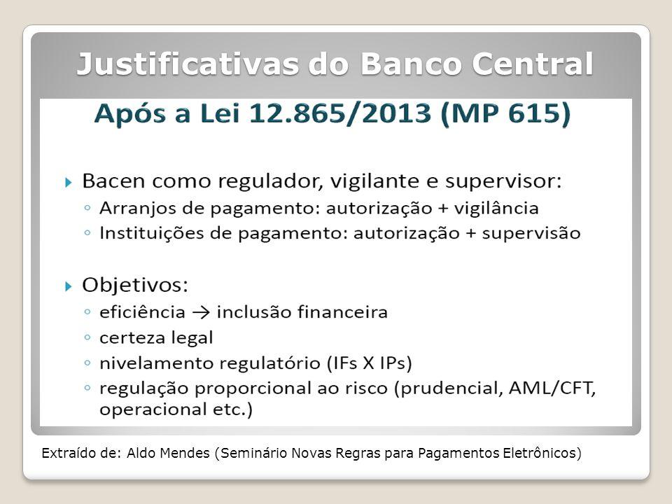 Justificativas do Banco Central