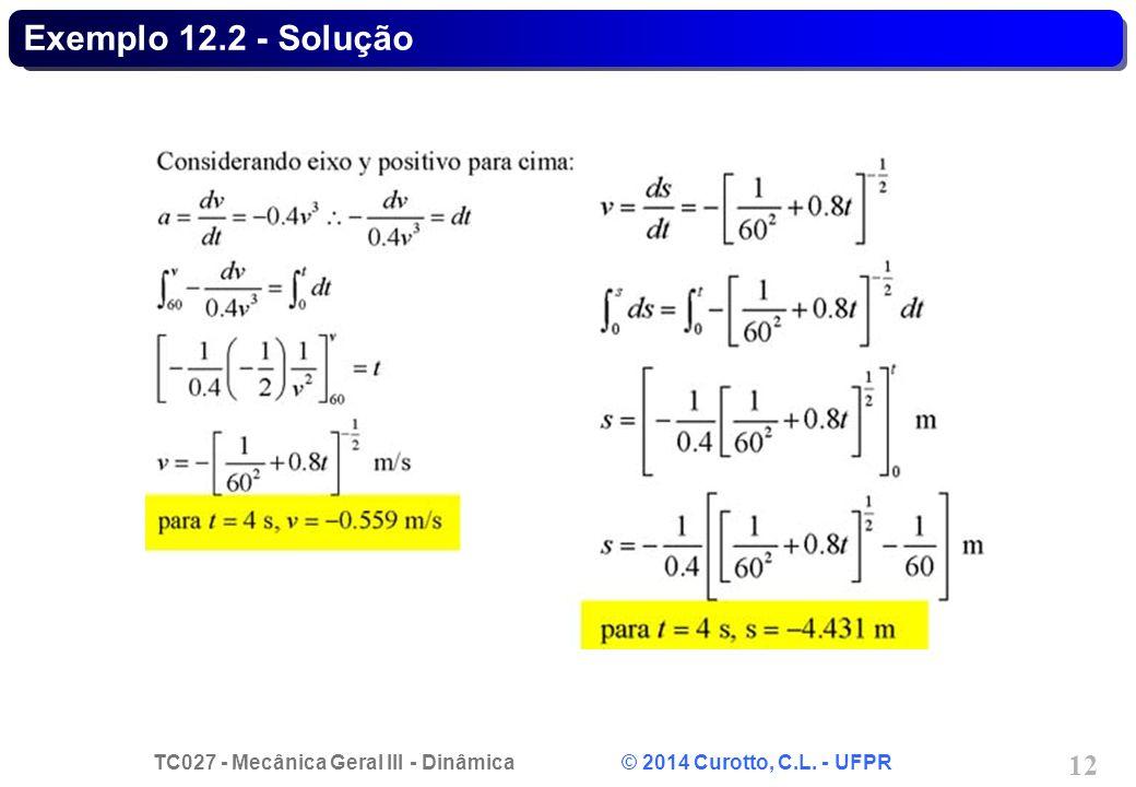 Exemplo 12.2 - Solução