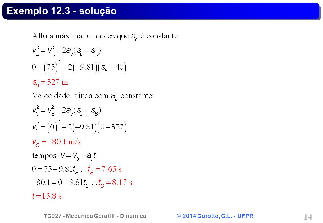 Exemplo 12.3 - solução