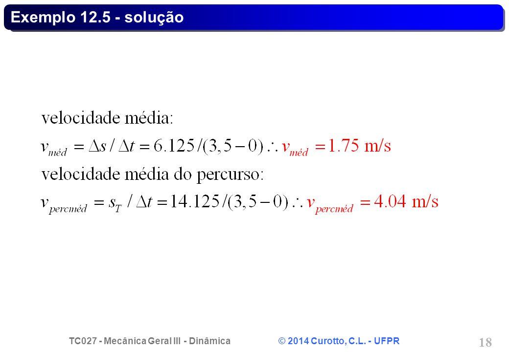 Exemplo 12.5 - solução
