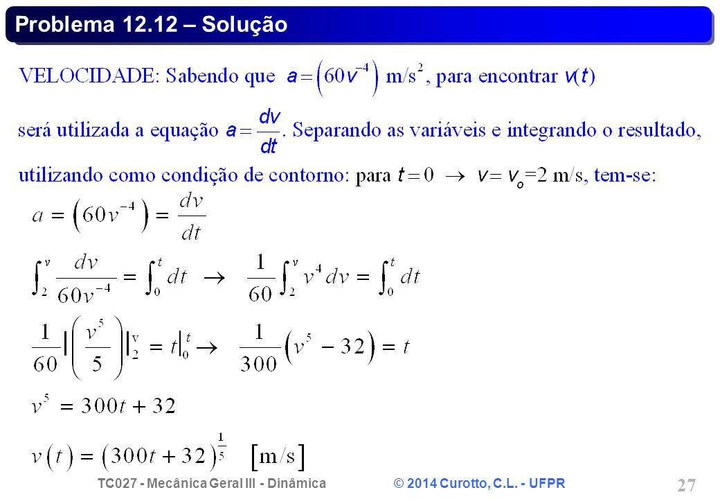 Problema 12.12 – Solução