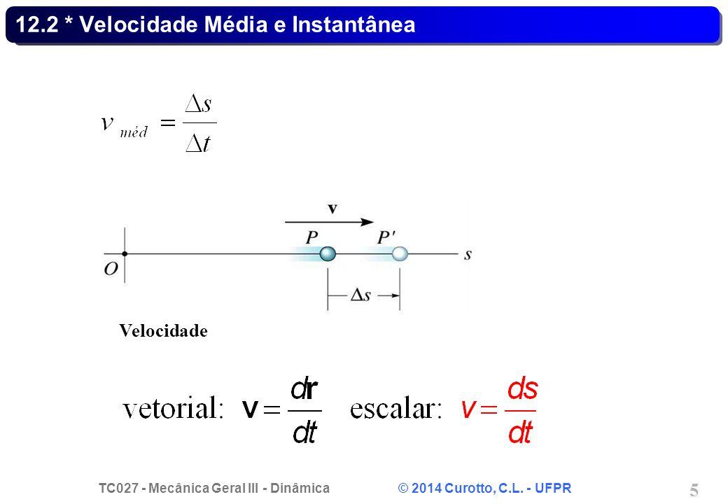 12.2 * Velocidade Média e Instantânea