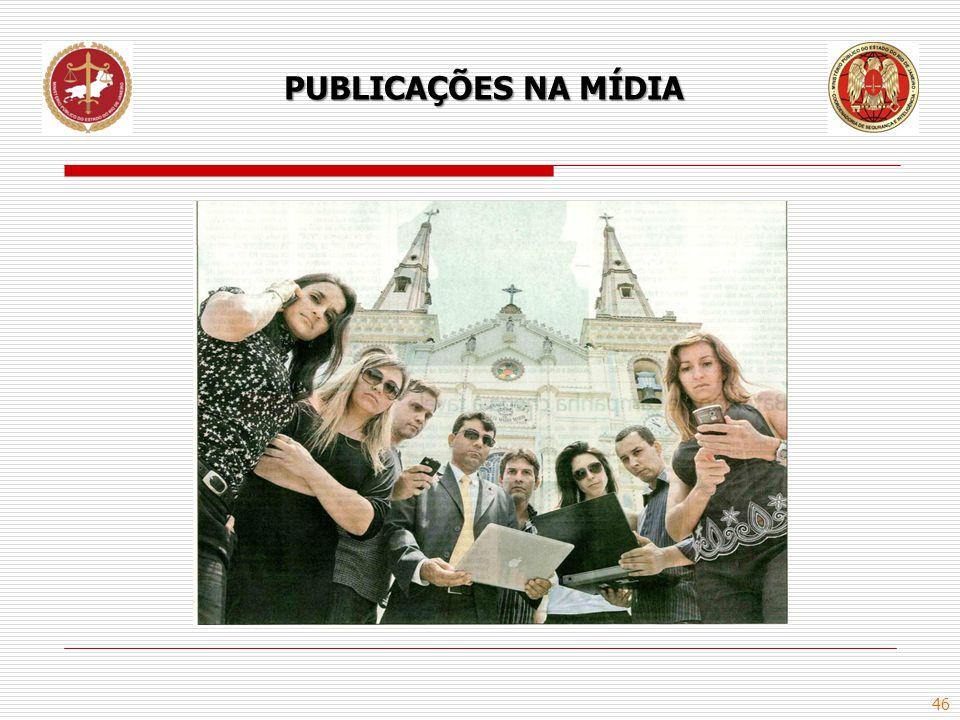 PUBLICAÇÕES NA MÍDIA
