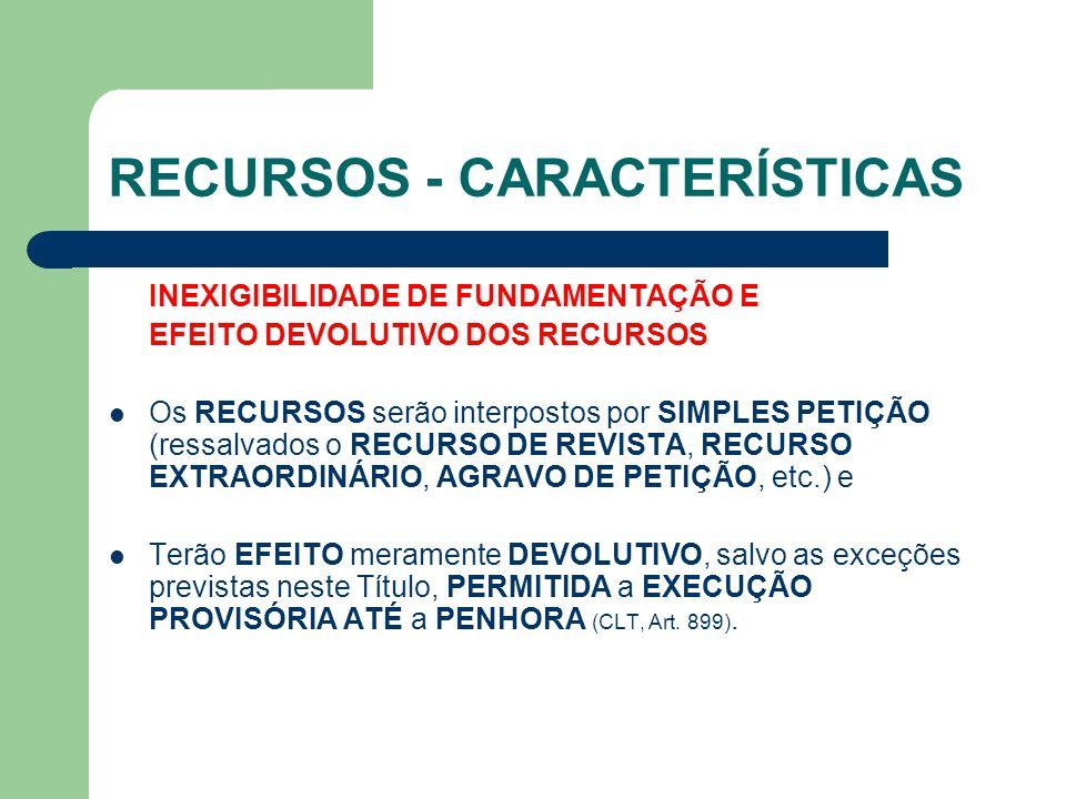 RECURSOS - CARACTERÍSTICAS