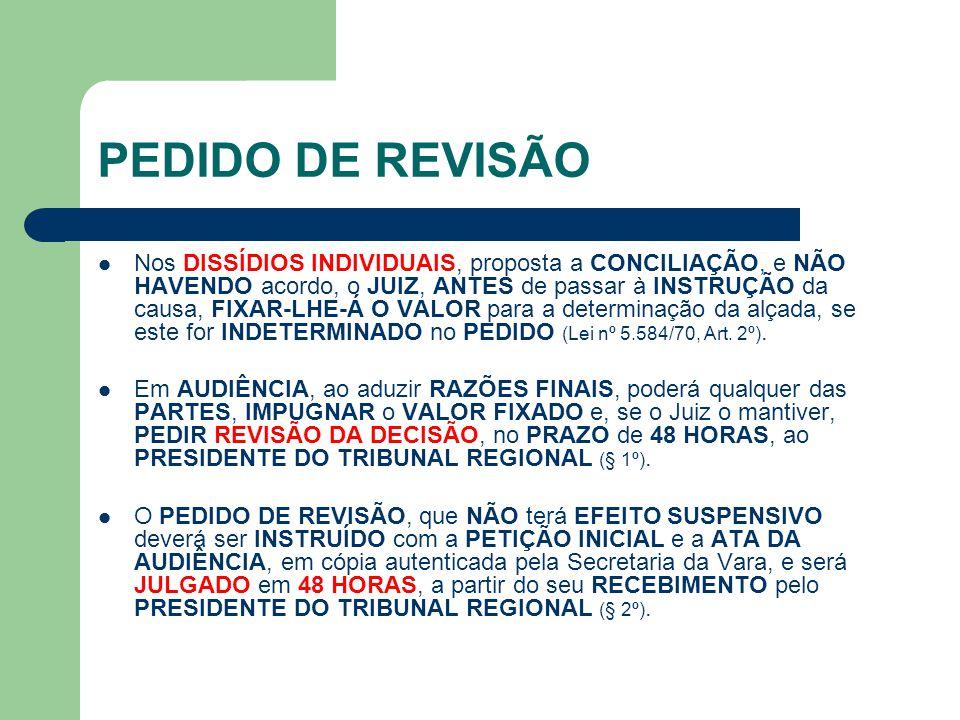 PEDIDO DE REVISÃO
