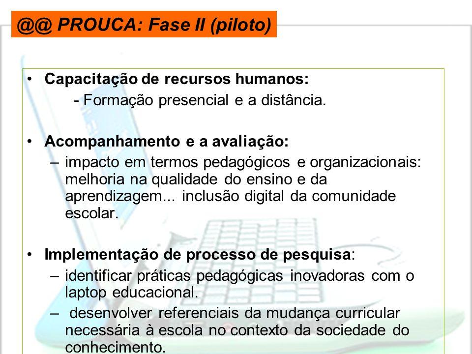 @@ PROUCA: Fase II (piloto)