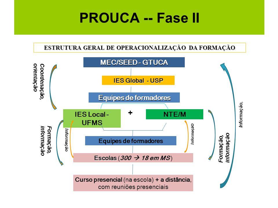 ESTRUTURA GERAL DE OPERACIONALIZAÇÃO DA FORMAÇÃO