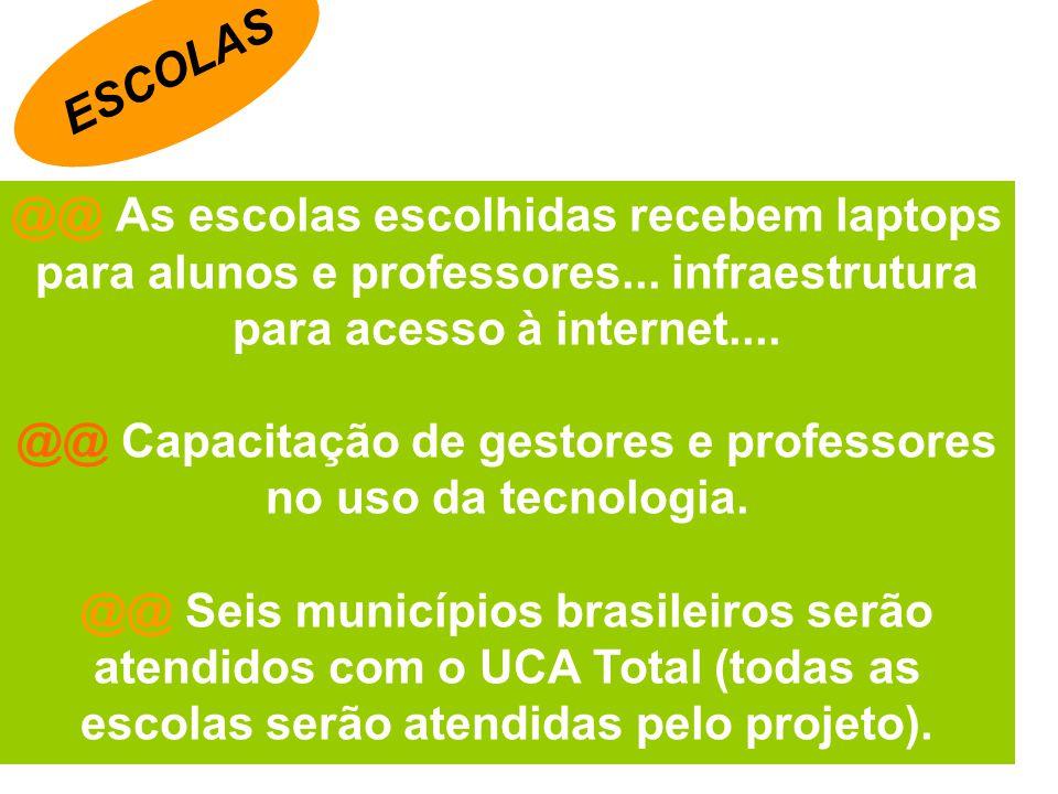 @@ Capacitação de gestores e professores no uso da tecnologia.
