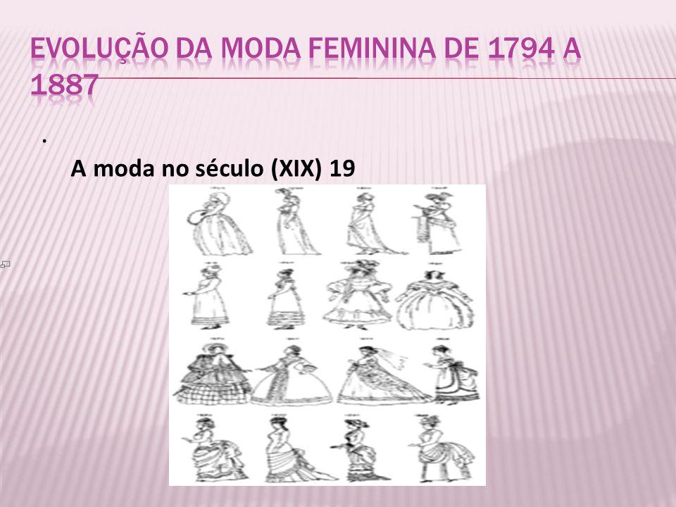 Evolução da moda Feminina de 1794 a 1887