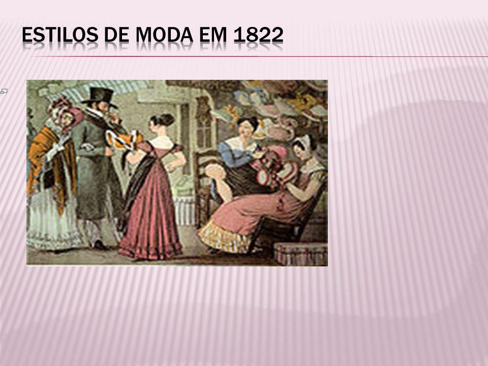 Estilos de moda em 1822 .