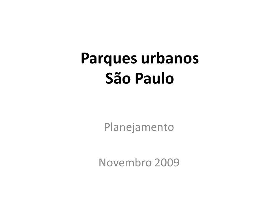 Parques urbanos São Paulo