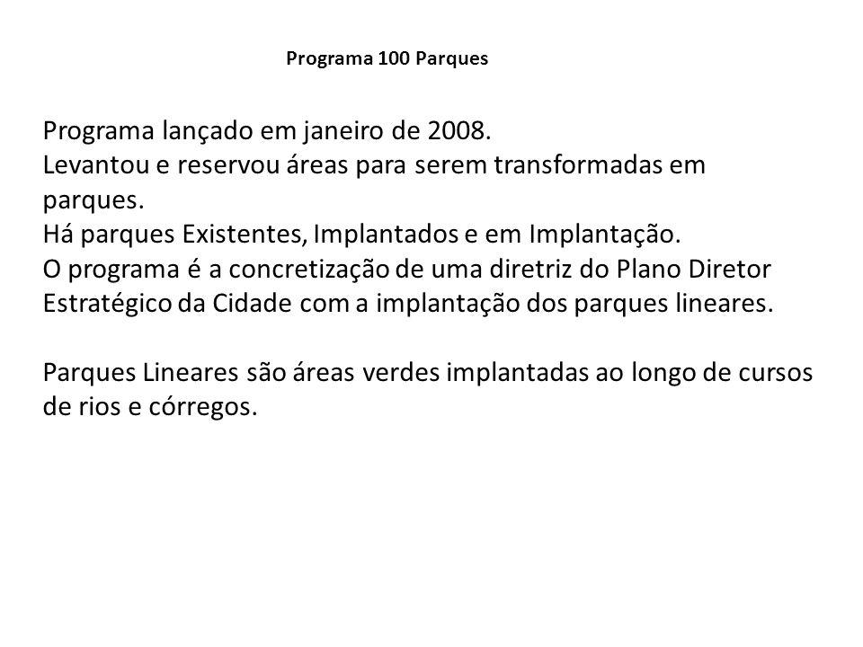Programa lançado em janeiro de 2008.