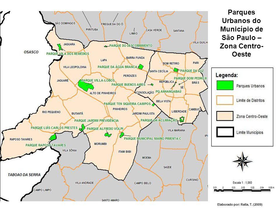 Parques Urbanos do Município de São Paulo – Zona Centro-Oeste