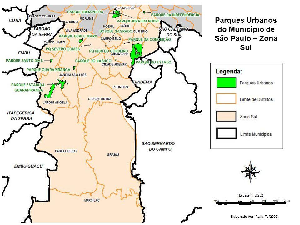 Parques Urbanos do Município de São Paulo – Zona Sul