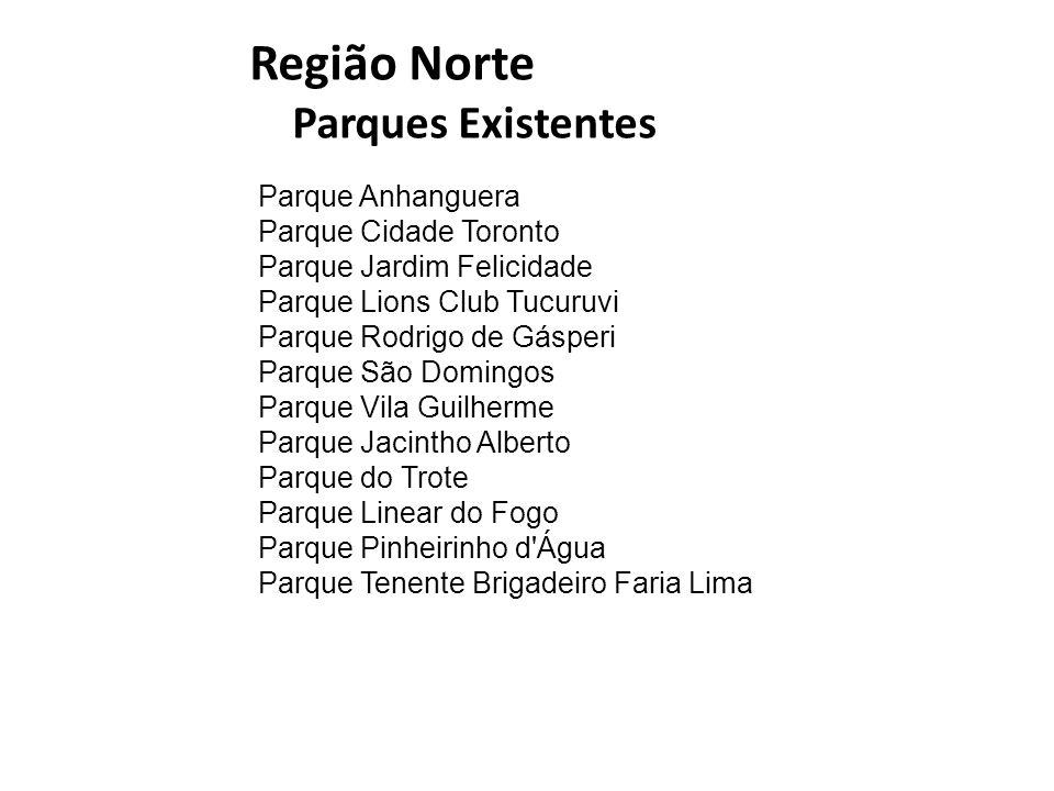 Região Norte Parques Existentes Parque Anhanguera