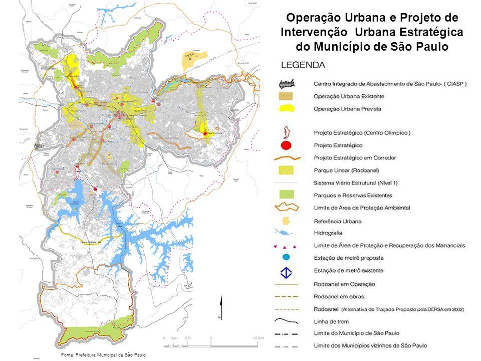Operação Urbana e Projeto de Intervenção Urbana Estratégica do Município de São Paulo
