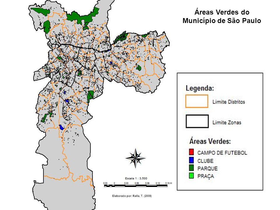 Áreas Verdes do Município de São Paulo