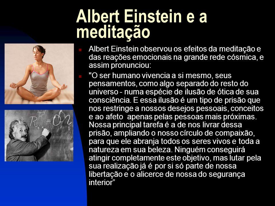 Albert Einstein e a meditação