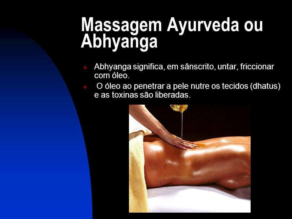 Massagem Ayurveda ou Abhyanga
