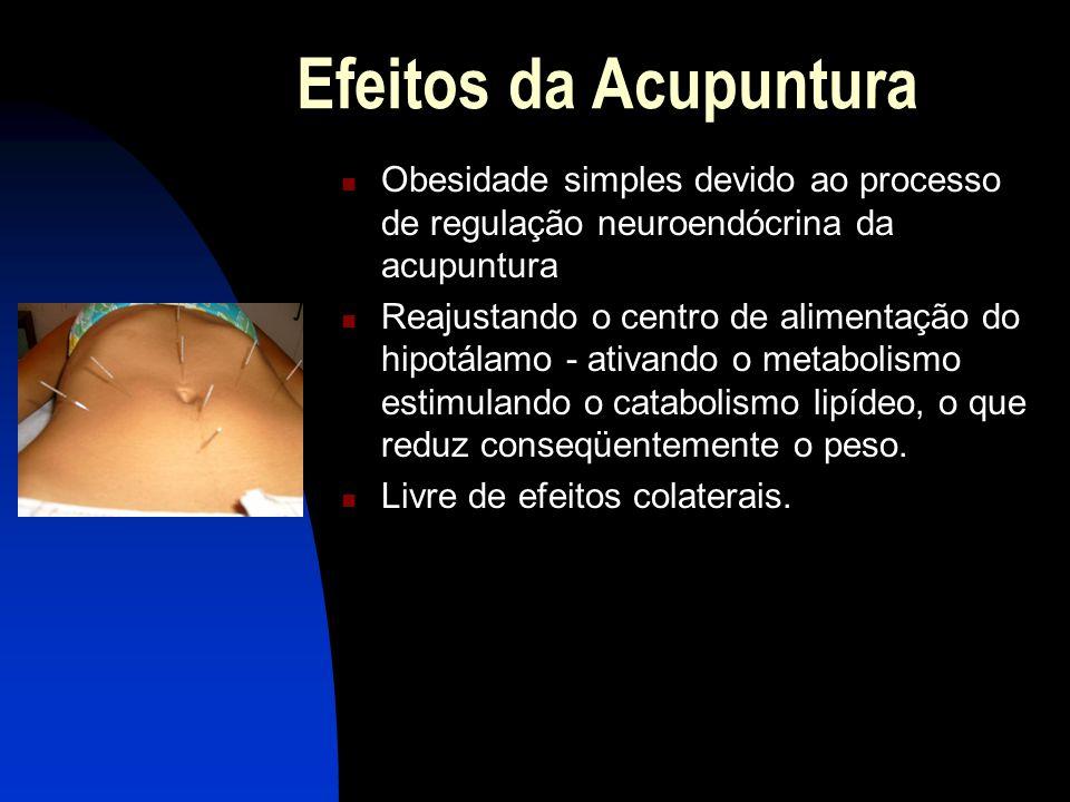 Efeitos da Acupuntura Obesidade simples devido ao processo de regulação neuroendócrina da acupuntura.