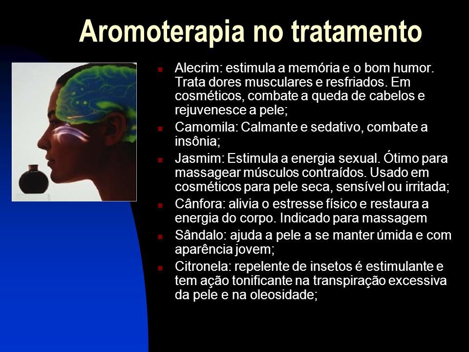 Aromoterapia no tratamento