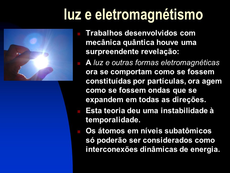luz e eletromagnétismo