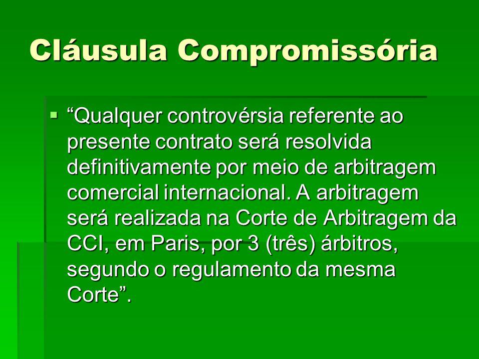 Cláusula Compromissória