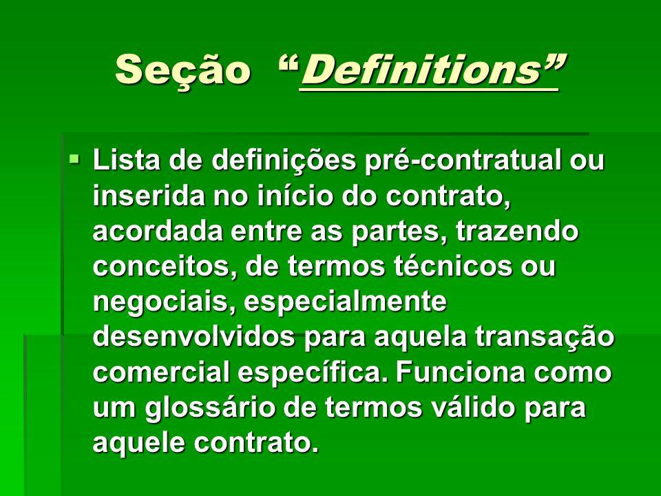 Seção Definitions