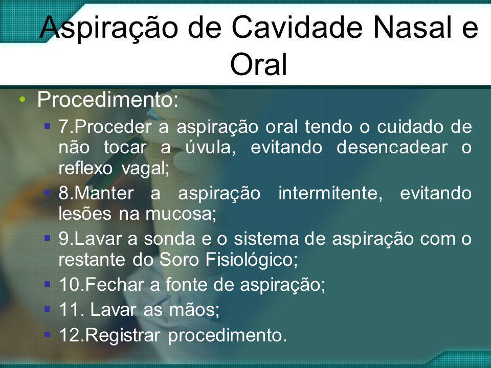 Aspiração de Cavidade Nasal e Oral