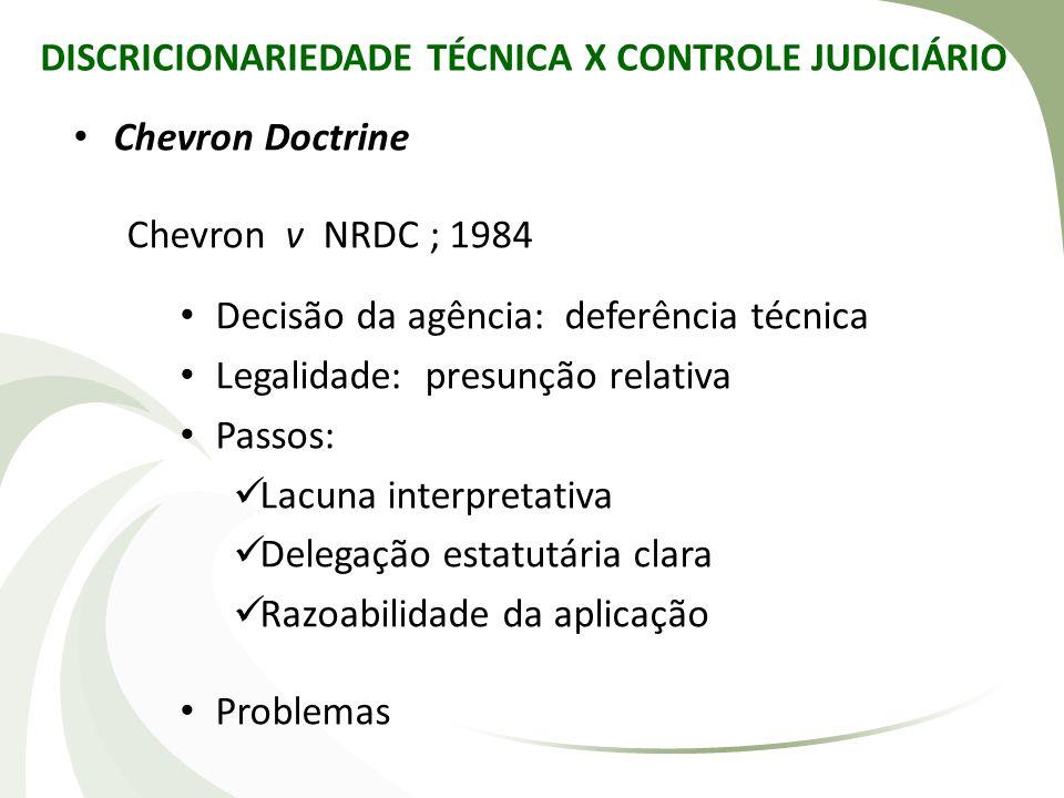 DISCRICIONARIEDADE TÉCNICA X CONTROLE JUDICIÁRIO