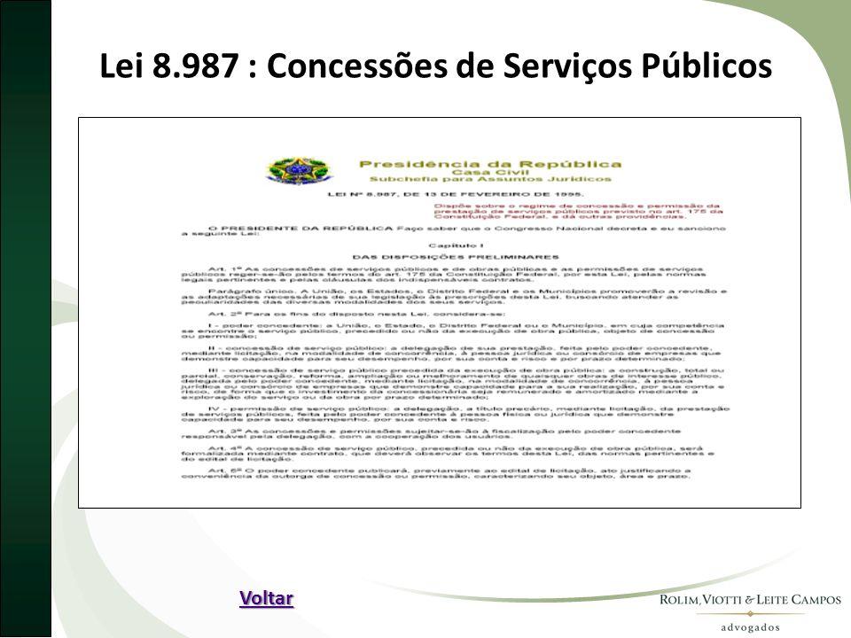 Lei 8.987 : Concessões de Serviços Públicos