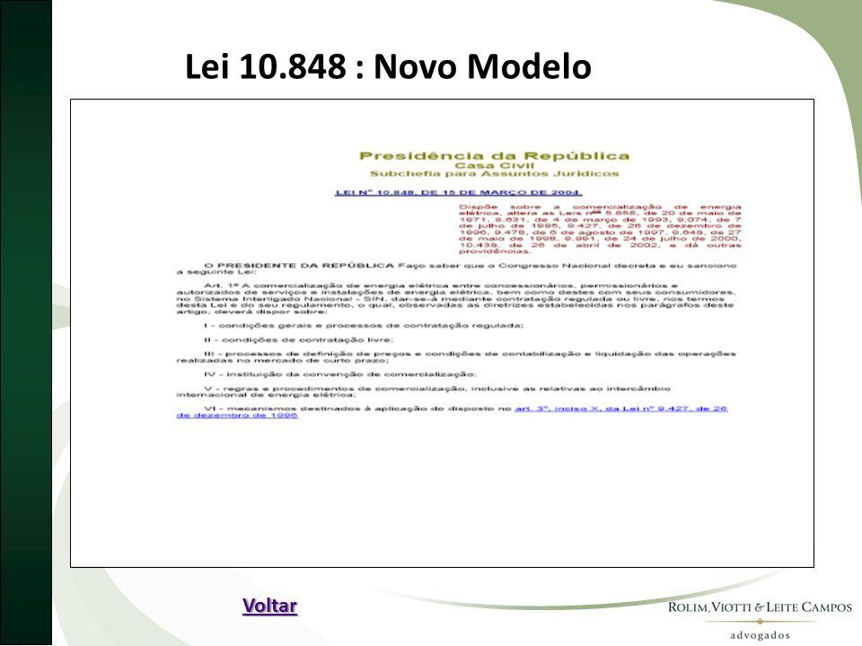Lei 10.848 : Novo Modelo Voltar