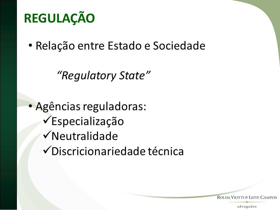 REGULAÇÃO Relação entre Estado e Sociedade Regulatory State