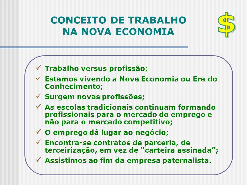 CONCEITO DE TRABALHO NA NOVA ECONOMIA
