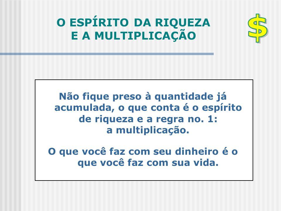 O ESPÍRITO DA RIQUEZA E A MULTIPLICAÇÃO